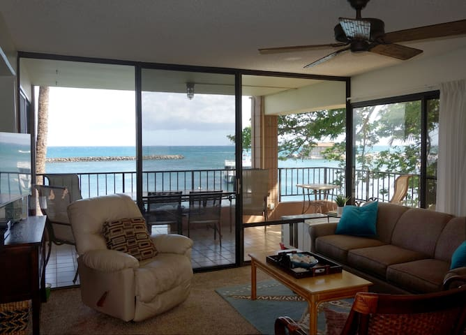 Direct Ocean front, Large Wrap-Around Lanai - Wailuku - Apartament