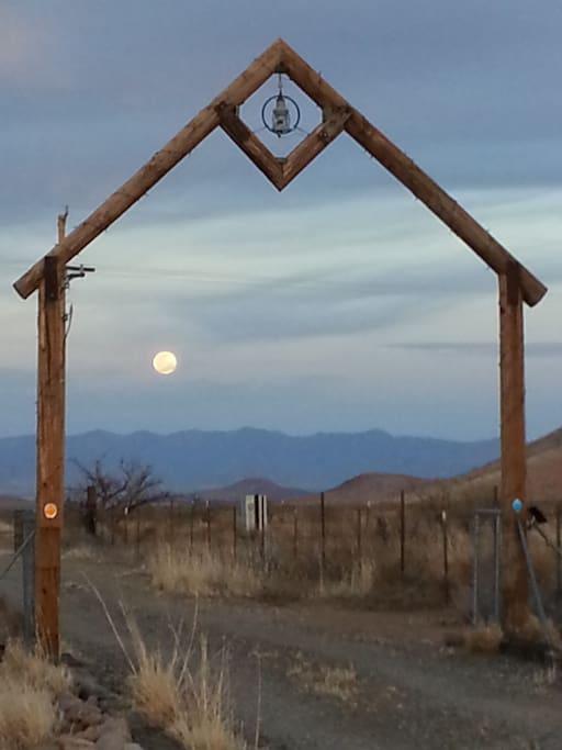 Moonrise over the Chiricahua Mountains