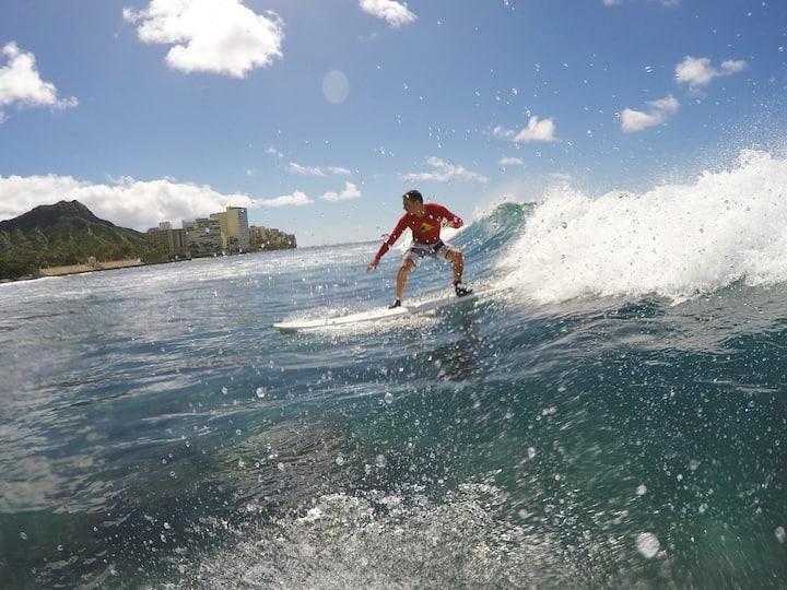 Surfer dude in Waikiki