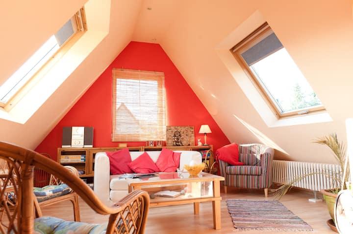 Gemütlicher Dachboden im Sauerland
