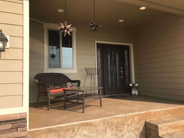 Front porch entrance.