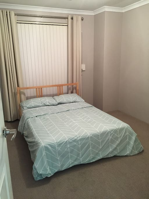 double bed with built in wardrobe