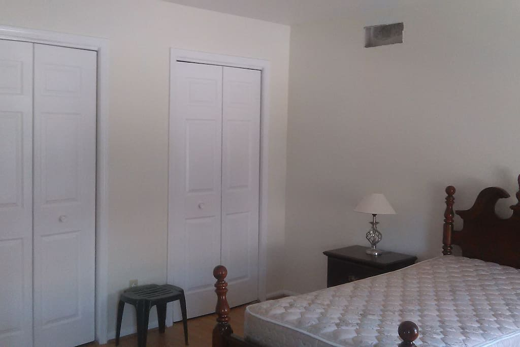 Guest Bedroom w/ double closets