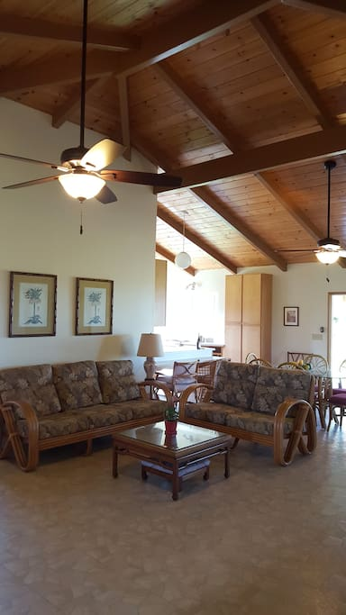 The comfortable and relaxing living area, as you enter the house