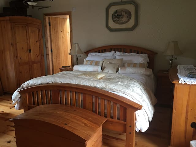 The Master Bedroom with a very comfortable King size bed.