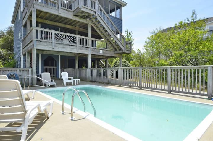1620*  OB Haven* 8 min. walk to beach access* Private Pool* Screened In Porch