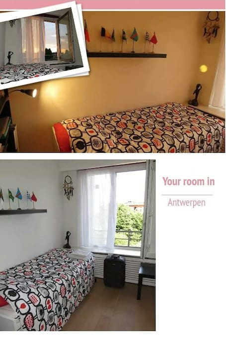Your room in Antwerpen (bed's size is adjustable to Queen size)