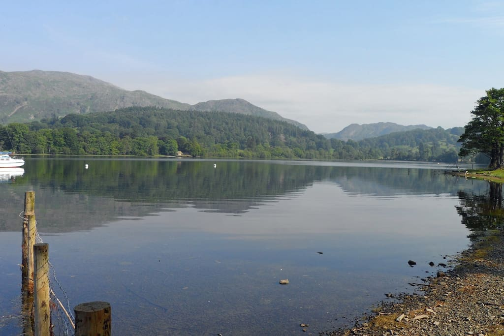 Outstanding views from the farm of surrounding mountains and Coniston Water (lake)