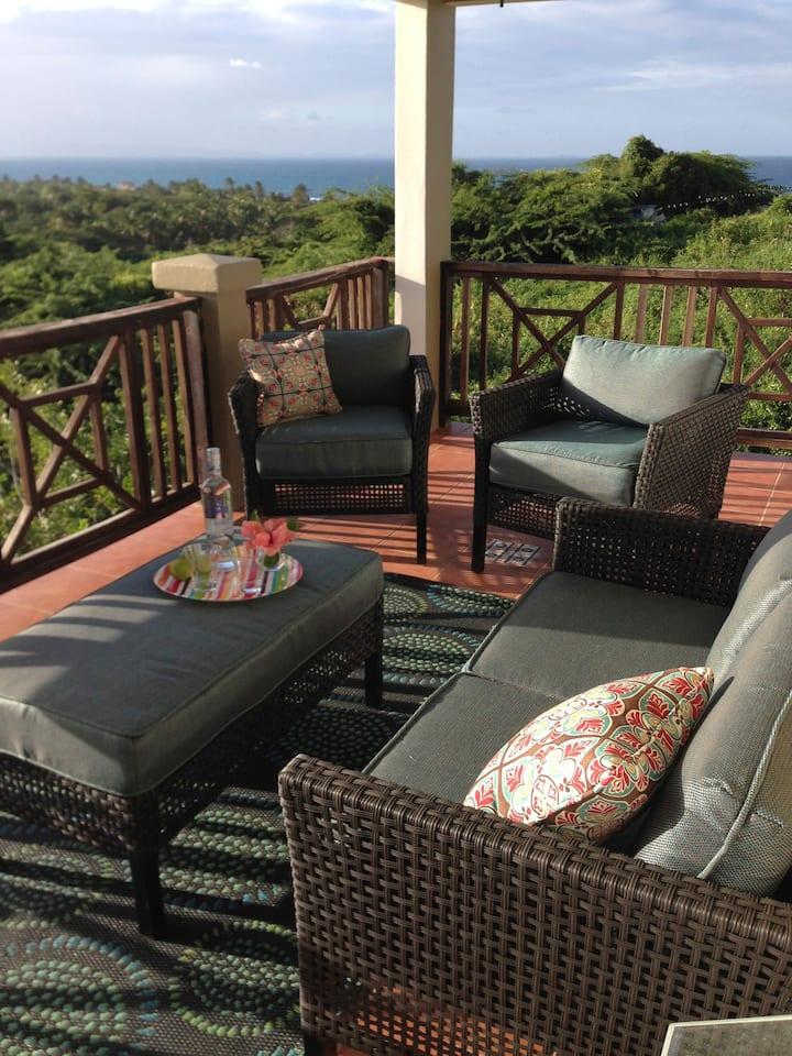 Ocean Views, Beautiful Breezes - Hilltop Villa
