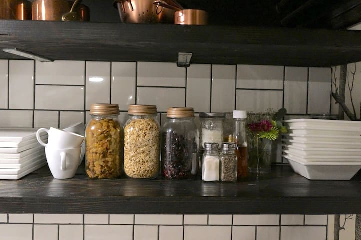 We provide granola, dried fruit and yogurt for our guests.