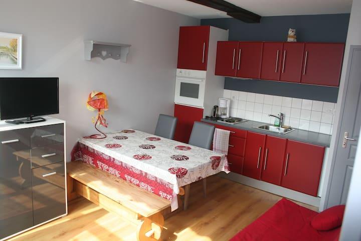 Gîte Campagne (30M2) très lumineux - Bergues - Apartamento