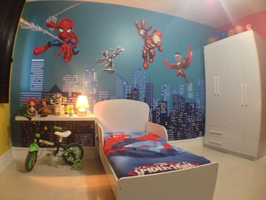 Kids room. Its possible change for a queen size bed if you ask.