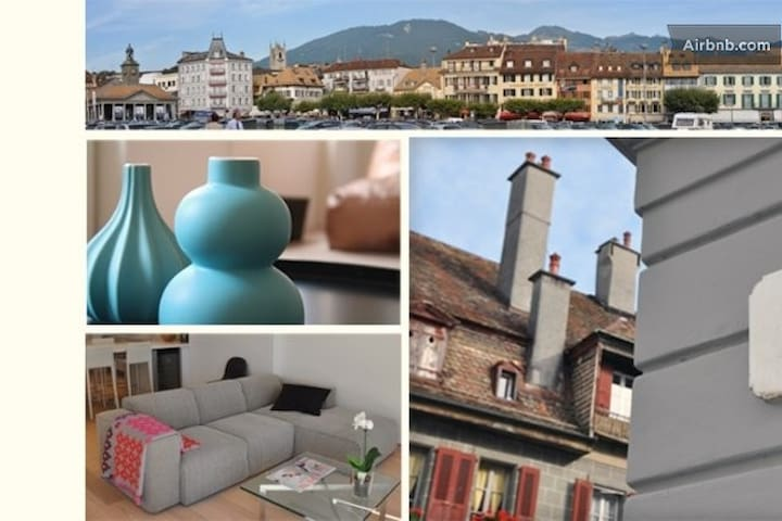 Vevey, city Center, lakefront area - Vevey - Appartement