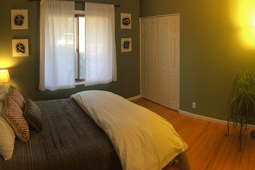 Cozy room with a full size bed!
