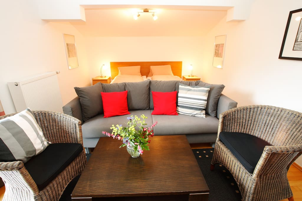 Zell am see apartment for 4 pers appartements louer for Living room zell am see