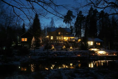 Finnish Sauna cottage by a river - Hämeenkoski - Blockhütte