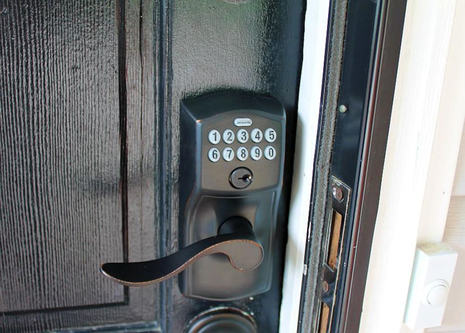 With electronic locks there are no keys to worry about during your stay.