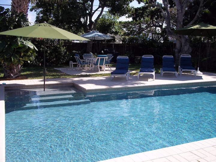Pool House, 3/2, 3' to beach, Paley/Rybo/Port/Dogs