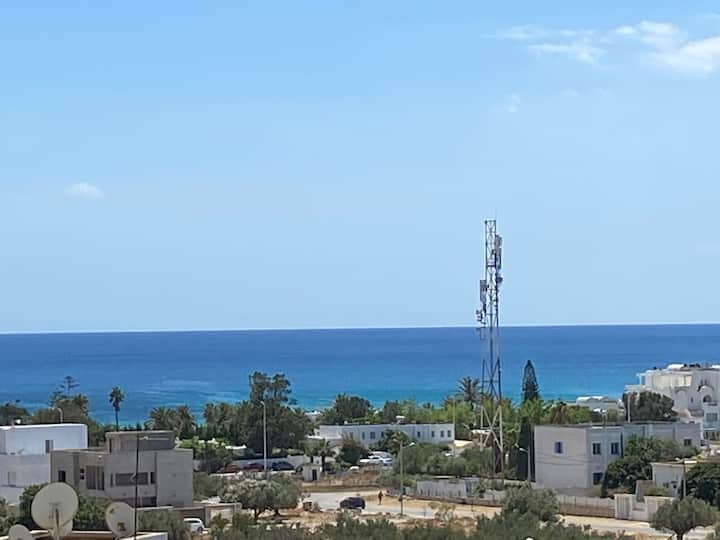 Meublé, piscine,5min-mer,entre Nabeul-Hammamet
