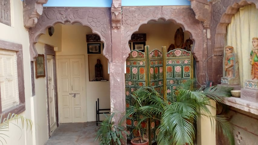 Banjara Suite in Bristow's Haveli in the blue city