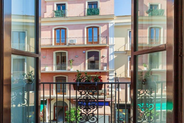 Private Balcony with View of Corso Italia