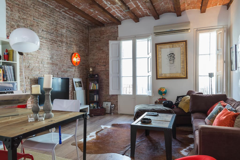 Modern loft best location lofts louer barcelone catalogne espagne - Location loft barcelone ...