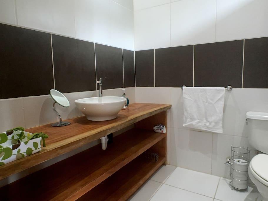 Contemporary bathroom with shower