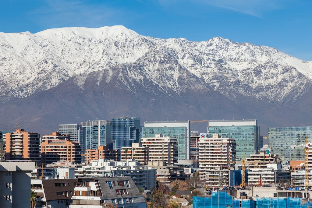 Terrace: Andes mountains over Santiago, can be admired from the living room and master bedroom.