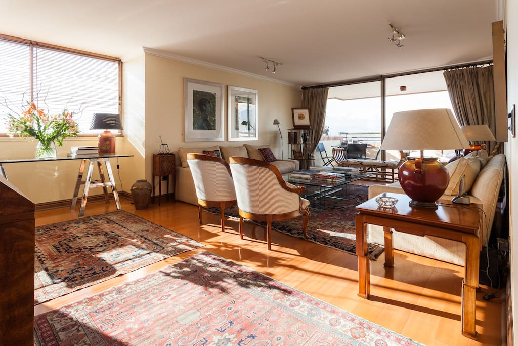 Living room: with a large terrace, ample space and bright natural light.
