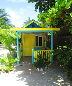 # 4 Cabana with a/c + basic kitchen steps to beach - Caye Caulker