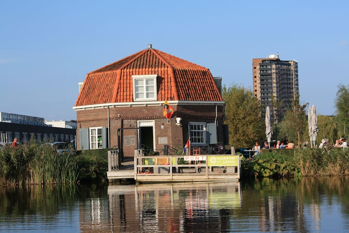 "Old windmill ""oude molen"" now teahouse"