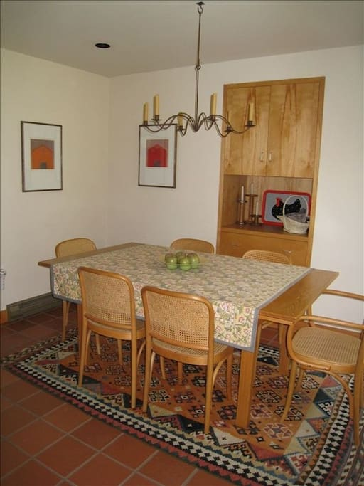 Dining room attached to kitchen.