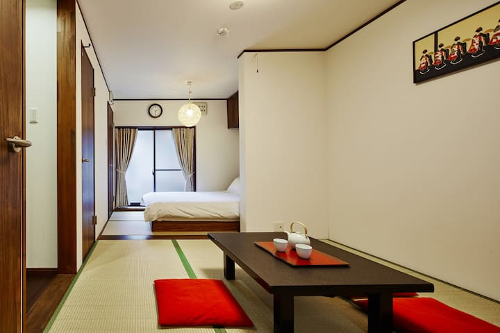 Quiet ambience, tatami room near Kyoto station