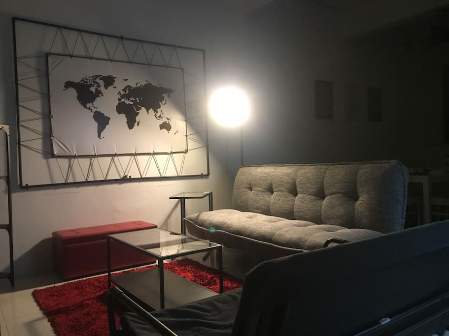Living room with 2 sofa bed, tv astro njoi, ps4, wifi