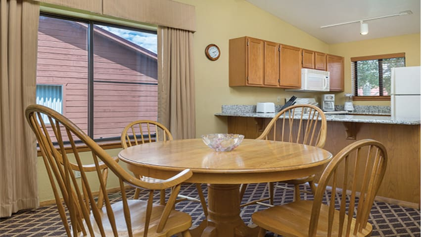 The dining room has seating for all your guests