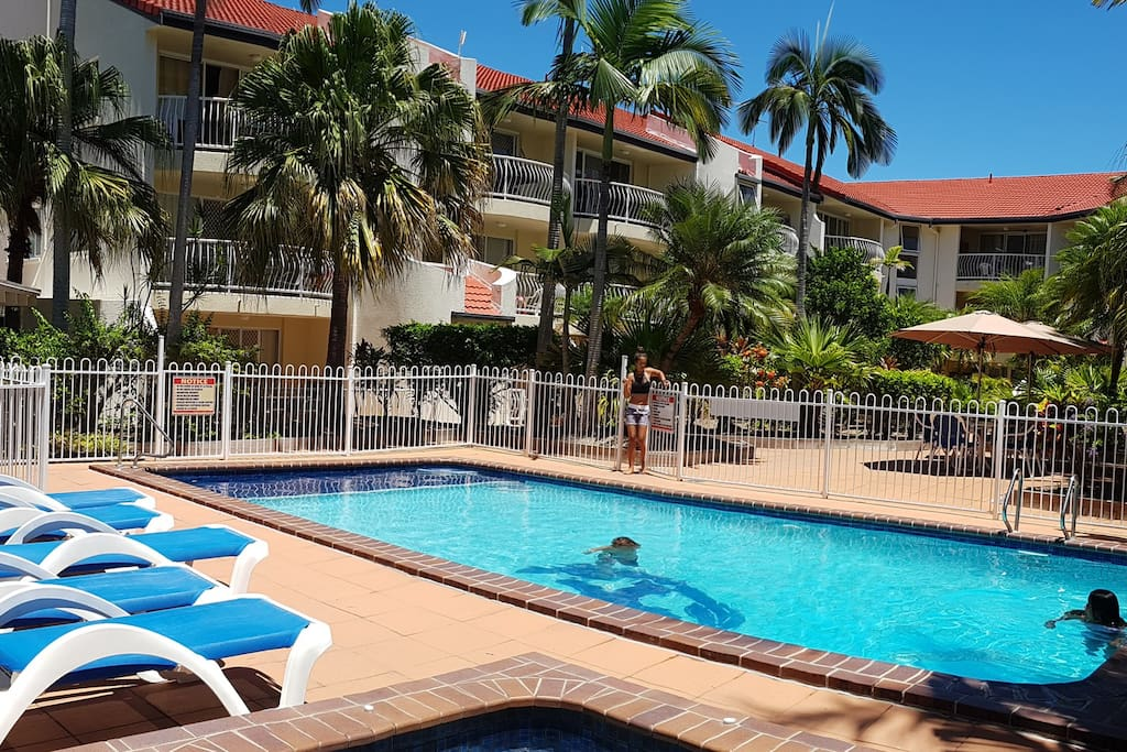 Overview of Apartment Complex with pool.