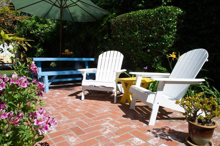 Enjoy your morning coffee or afternoon wine from this private patio