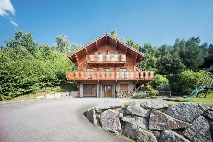 Chalet with panoramic view over the Meurthe Valley
