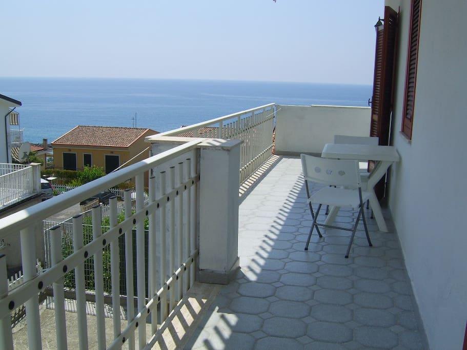 Il terrazzo vista mare