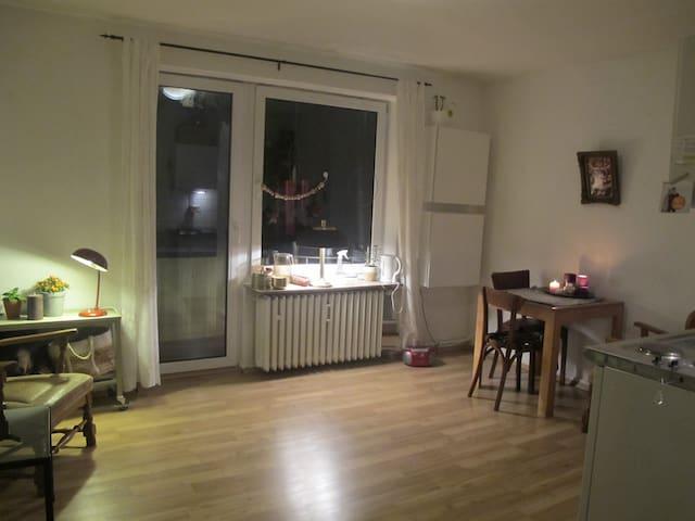 Zentrale, gemütliche Wohnung mit Balkon - Münster - Apartamento