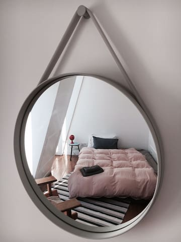 A funky different view of your room.