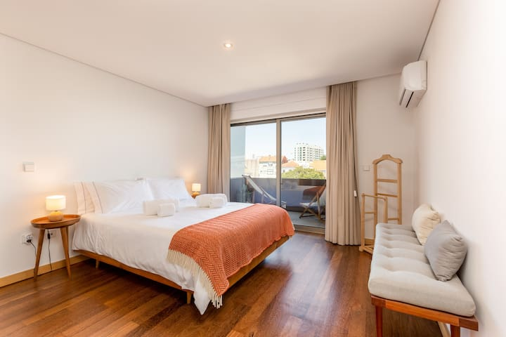 Your master suite with private balcony