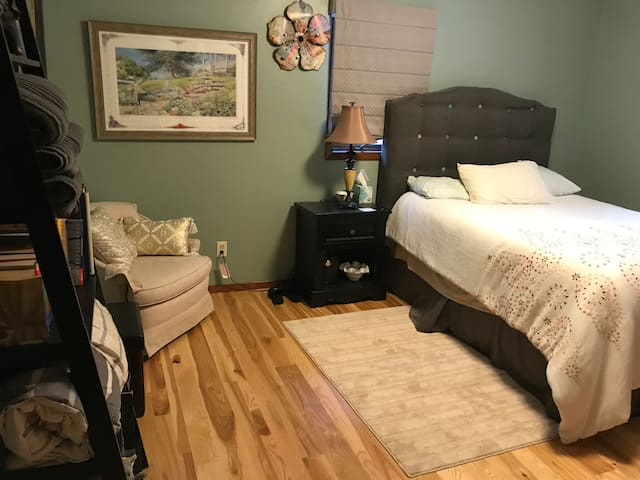 Cozy room, we share the large bathroom