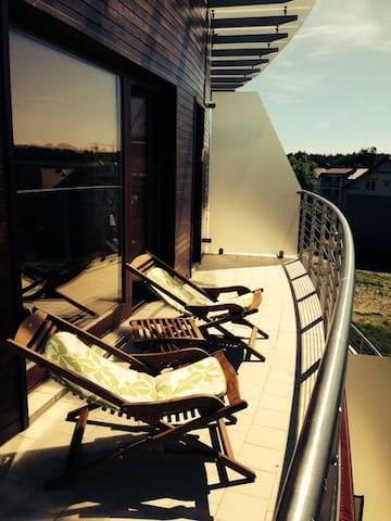 Słoneczne, z widokiem na zatokę - Hel - Apartamento
