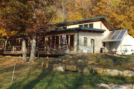 Peaceful passive solar home on goat cheese dairy!