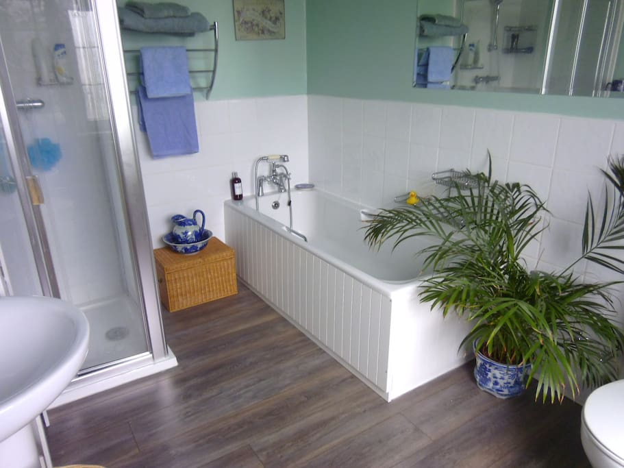 Access to large house bathroom