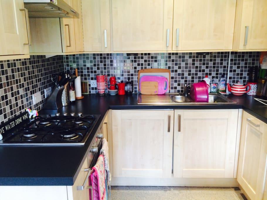 Kitchen with everything you need (dishwasher, fridge freezer)
