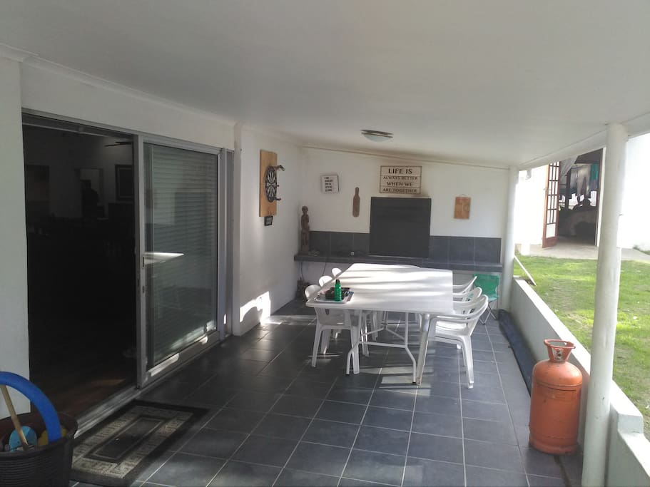 Barbeque and entertainment area