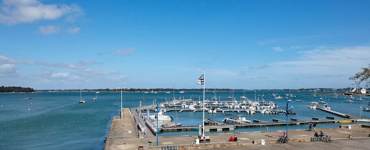 Logement sur le port vue sur le golfe du Morbihan