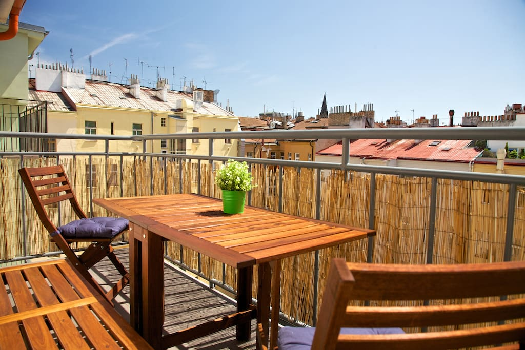 Relax at this sunny south oriented terrace
